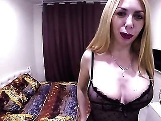 Lewd Traveler Drops A Visit To Big-boobed Blonde Russian Mega-bitch To Analfuck Her