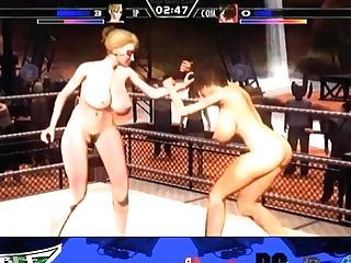 Animation Pornography Game With Buxomy Honey Wrestlers - Fixation Grappling