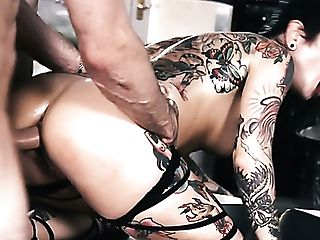 Oiled Asshole Of All Tattooed Brown-haired Joanna Angel Is Worth Some Hard Mish