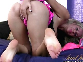 Finest Superstar In Amazing Footfetish, Cougar Fuck-a-thon Scene