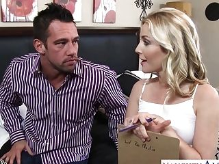 Married Stud Can't Say No To Romp-appeal Blonde Sans Brassiere Karla Kush