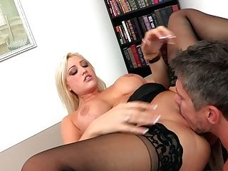 Dayna Vendetta Is A Big Boobed Office Blonde That Turns