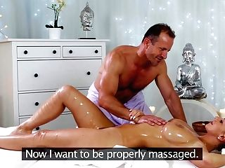 Amazing Superstars George, Nathaly Cherie In Fabulous Rubdown, Big Tits Adult Clip