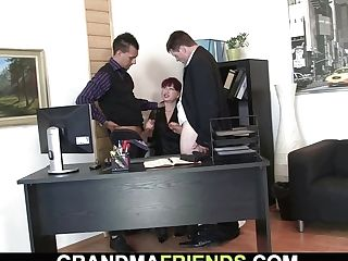 Ginger-haired Office Mummy Gets Her Vag Ate And Fucked