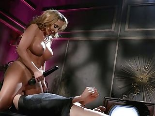 Bodacious Mistress Richelle Ryan Fucks Bung Of Tied Up Subjugated And Sits On His Face