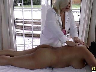 Oldnanny Lacey Starr Big Breast Girl/girl Rubdown