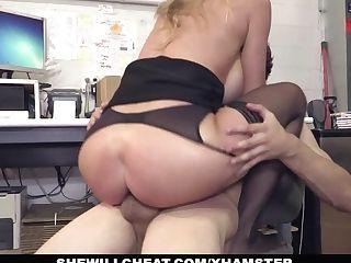 Shewillcheat - Chesty Mummy Manager Fucks Fresh Employee