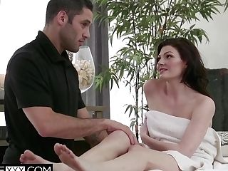 Jessica Takes Her Rubdown Deeper And Firmer