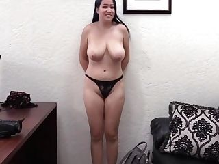 Bbw Asian Gets Jizzed At Casting Fuck
