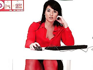 Perverted Upskirt Solo During Lunch Time Of Lusty Office Tart Shelly