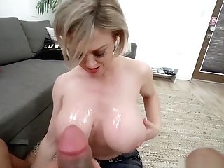 Big Tit Cougar Comforts Son-in-law With Tit Job And Fuck In The Bathroom