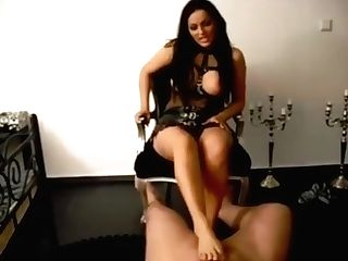 German Mistress Milks Marionette With Her Feet