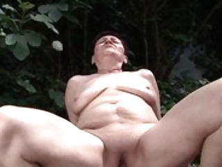 Fuck-a-thon In The Garden With Clean-shaven Granny Anastasia