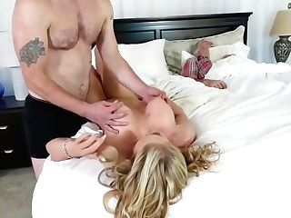 Family Dinner Oral Pleasure And Mom Has Fucky-fucky With Playmate's Daught