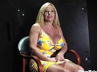 Hefty Tit Blonde Sucking Spunk Out Of Pricks