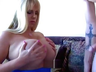 Cougar Is Home Alone So She Can Stroke Any Jizz-shotgun