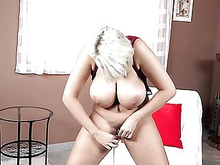 Wild Buxom Blonde Cougar Angel Wicky Loves Taunting Her Soaking Fuckbox