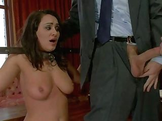 Dark-haired Charley Chase And Blonde Katie Kox Are Two Enslaved