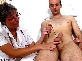 Sperm Hospital - Huge-chested Uniform Lady Doris Ball Restraint Bondage Therapy