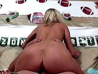 Hot Deviant Blondie Lauren Crystal Rails Big Lengthy Hard-on In Cowgirl Pose