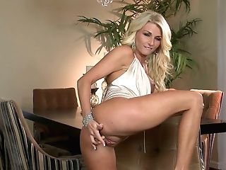 Stacked Blonde Beauty Alicia Secrets Shows Off Her Taut Butt