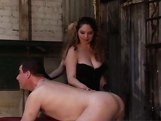 Kiki And Aiden Use A Massive Black Plaything To Peg A Slave Boy!