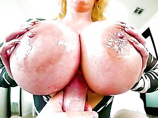 Blue Eyed Enormous Boobed Blonde Cougar Alura Jenson Gives Awesome Tit Drilling