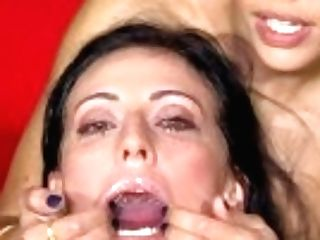 """premium Mass Ejaculation - Sherry Vine Guzzles 71 Yam-sized Throatful Spunk Geysers"""