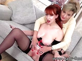 Sexy Matures Sonia And Crimson Love To Taunt