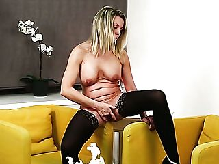 Solo Beautiful Nymphomaniac With Big Titties Queenie Certainly Loves To Fingerfuck Herself