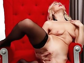 Blonde Matures Lady Sylvie Delights Her Bald Cunny