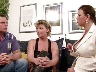German Big Tit Mummy Instruct Duo To Have More Joy At Fucky-fucky