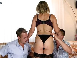 Big Jugged Housewife Sucking And Fucking In A Threesome - Maturenl