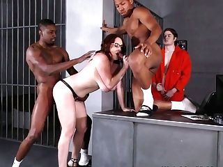Stunning Michigan Huge-boobed Attorney Maggie Green Gets Fucked By Some Prisoners