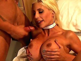 Blonde Haired Buxom Mummy Nurse Puma Swede Treats A Lucky