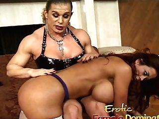 Cougar With Massive Faux Tits Predominated By An Angry Bodybuilde