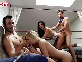Letsdoeit - Two Spanish Guys Share Teenage Gfs